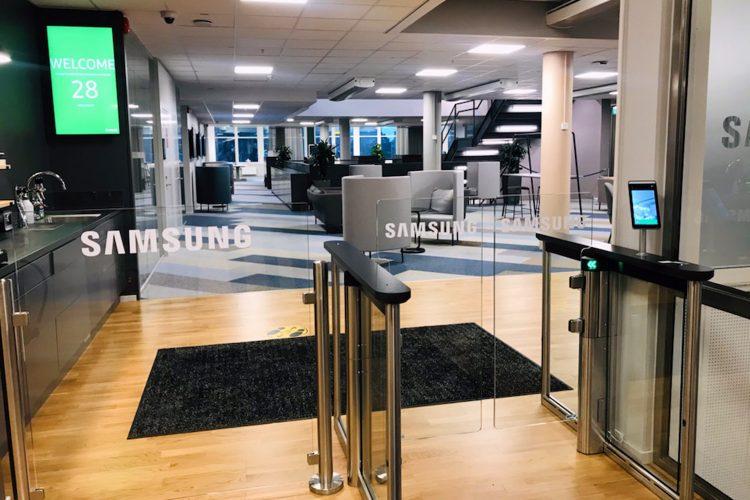 Gunnebo: control de accesos en oficinas de Samsung.