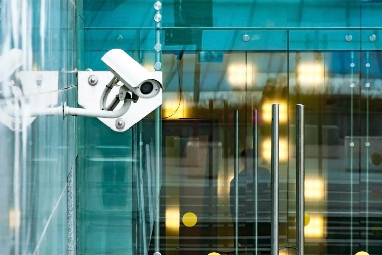 Cámara de videovigilancia.