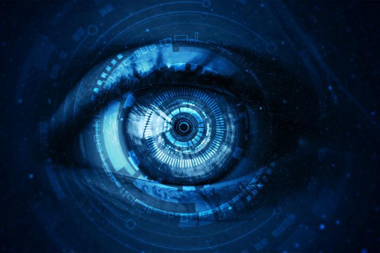 Ojo cibernético que espía