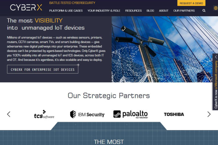 Web CyberX IoT