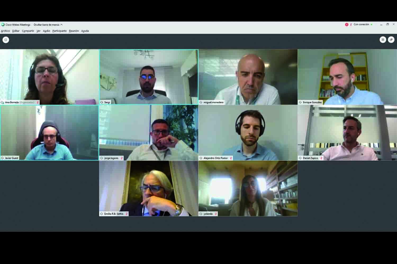 participantes de la mesa redonda virtual sobre ciberseguridad