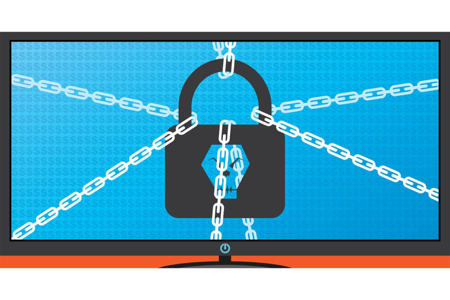 ransomware, candado, ciberataques, ciberamenazas