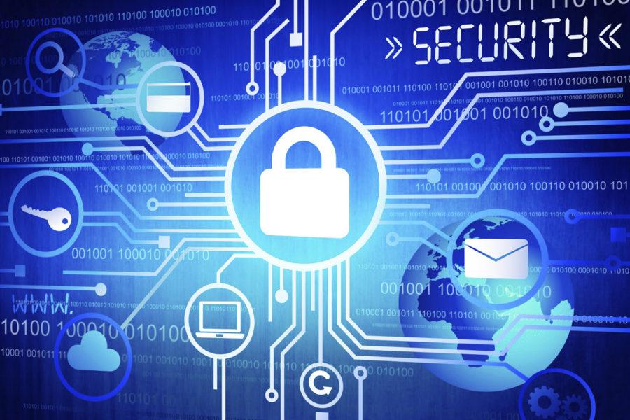 ciberseguridad, servicios, llave, candado