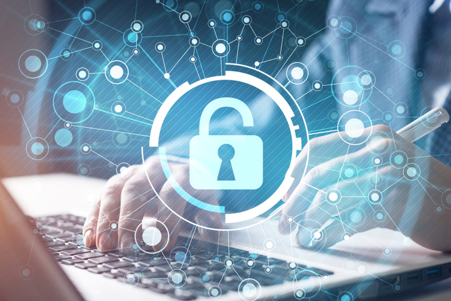 seguridad email, candado, teclado