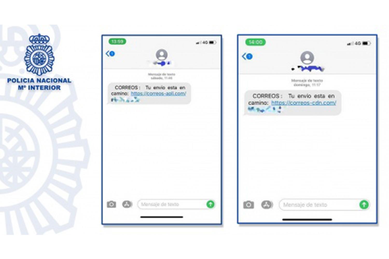 Smishing SMS Correos