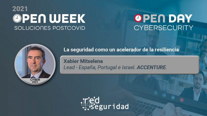 Xabier Mitxelena, Lead - España, Portugal e Israel de Accenture. Cybersecurity Open Day 2021.