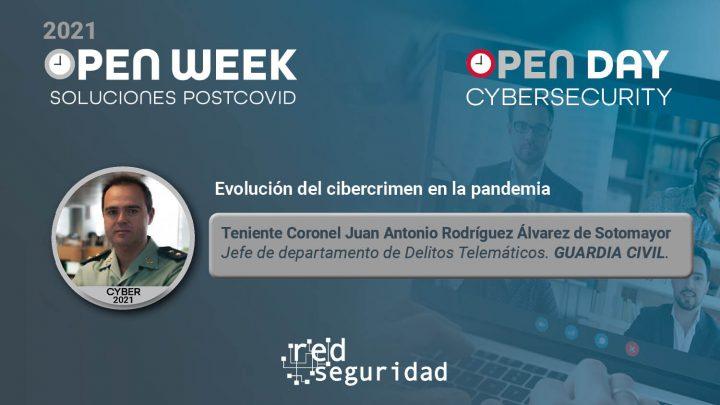 Teniente coronel Juan Antonio Rodríguez Álvarez de Sotomayor, jefe de departamento de Delitos Telemáticos de Guardia Civil. Cybersecurity Open Day 2021.