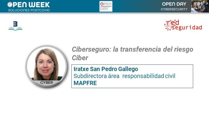 Iratxe San Pedro Gallego, subdirectora área responsabilidad civil de Mapfre. Cybersecurity Open Day 2020