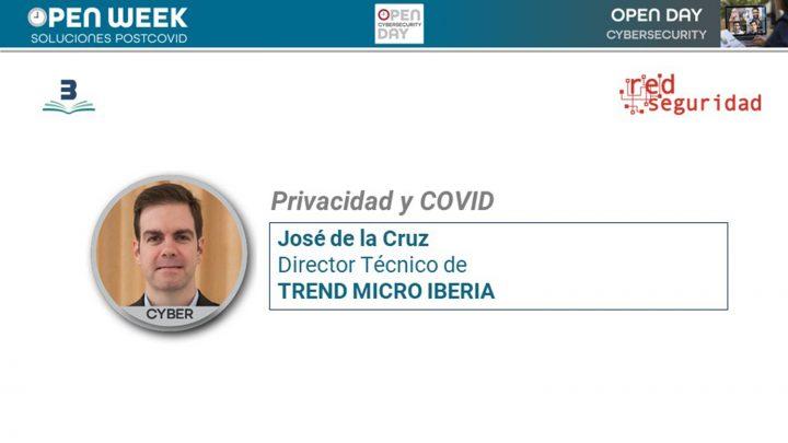 José de la Cruz, director técnico de Trend Micro Iberia. Cybersecurity Open Day 2020