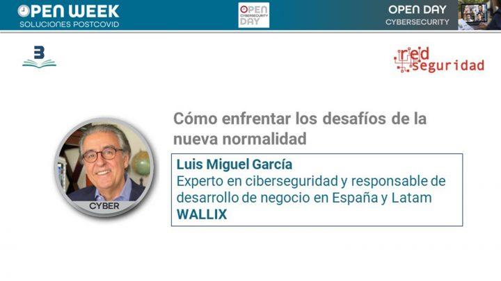 Luis Miguel García, experto en ciberseguridad y responsable de desarrollo de negocio en España y Latam de Wallix. Cybersecurity Open Day 2020.