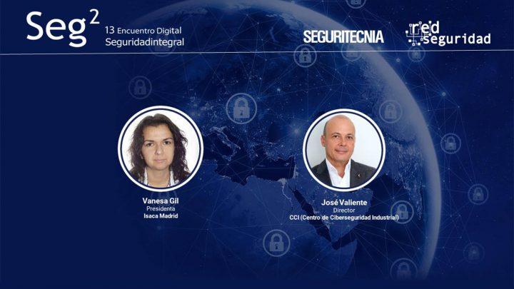 Vanesa Gil, presidenta de Isaca Madrid y de José Valiente, director del Centro de Ciberseguridad Industrial (CCI)