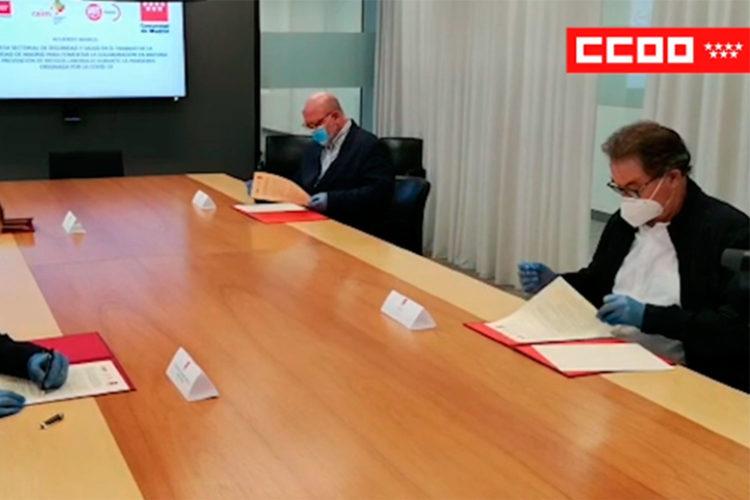 Acuerdo salud laboral ante el COVID-19